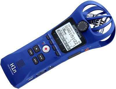 Zoom H1n 2-Input / 2-Track Portable Handy Recorder with Onboard X/Y Microphone Blue Limited