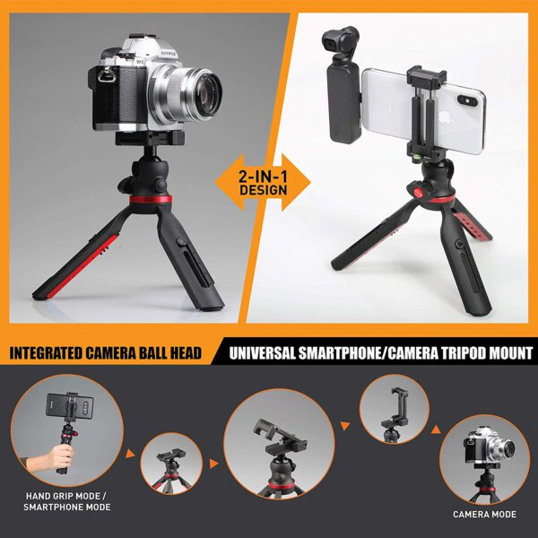 Ztylus Journalist Kit Mark II Campack Table Tripod for Camera Smartphone 2