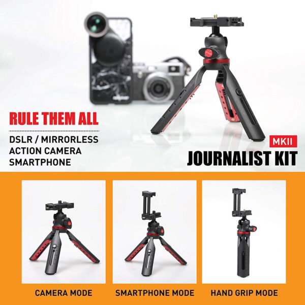 Ztylus Journalist Kit Mark II Campack Table Tripod for Camera Smartphone 3