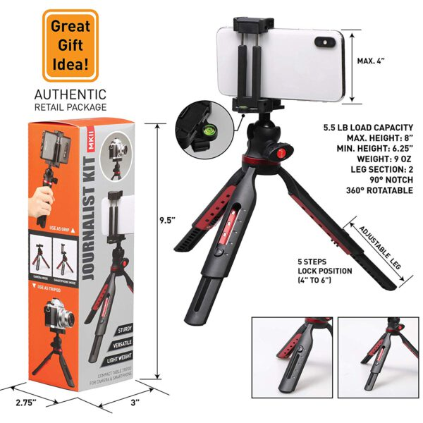 Ztylus Journalist Kit Mark II Campack Table Tripod for Camera Smartphone 5