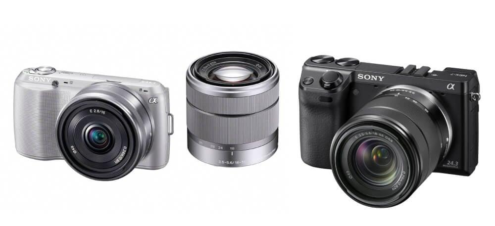 Sony mirrorless camera e-mount