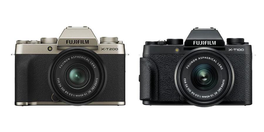 compare fujifilm xt200 vs