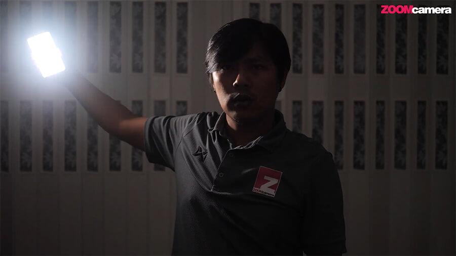 ใช้  Iwata GS-01 Genius Sweet LED เป็นไฟ Fill Light