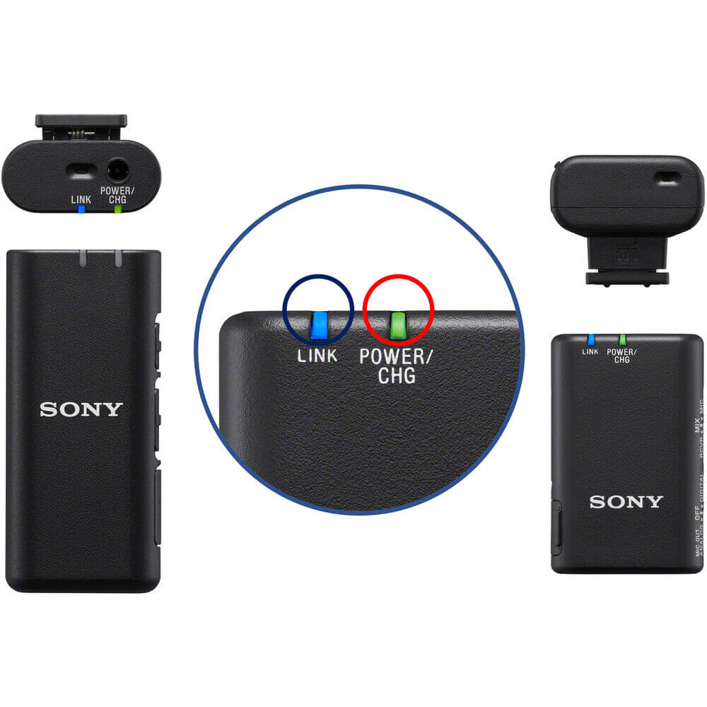 Sony ECM W2BT Camera Mount Digital Bluetooth Wireless Microphone System for Sony Cameras 24