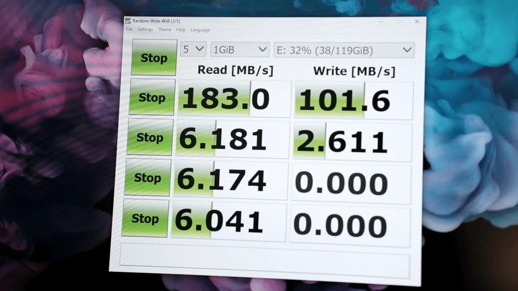 Transcend HUB5C SD Card Reader Speed test