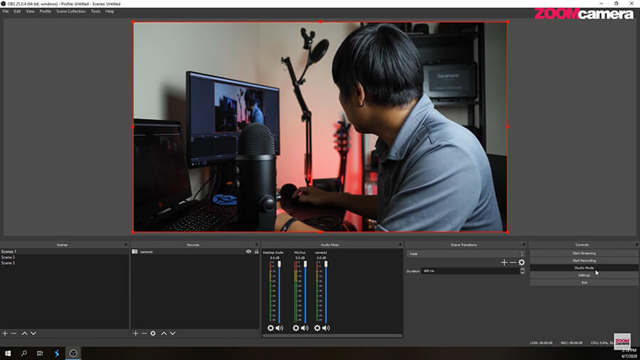 Studio Mode ในโปรแกรม OBS 1