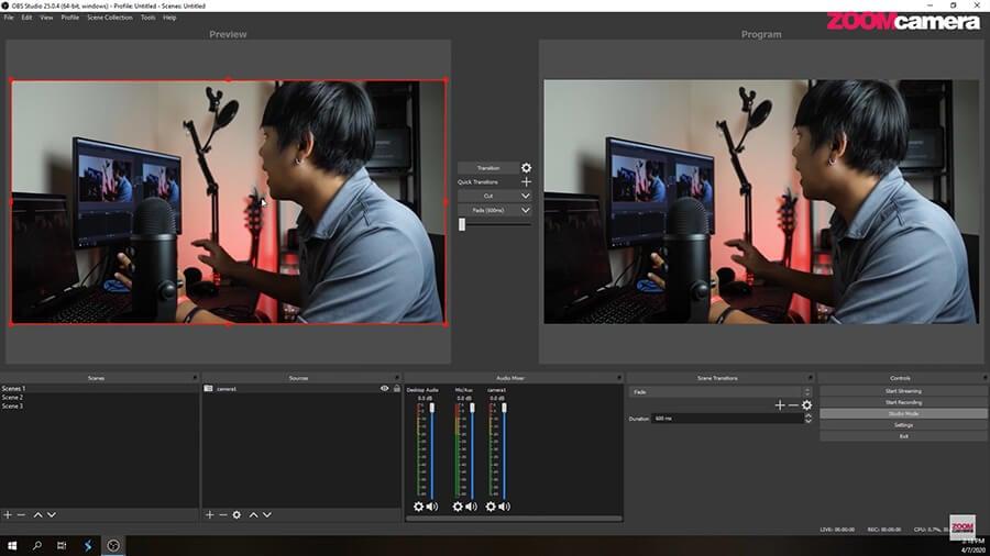 Studio Mode ในโปรแกรม OBS 2