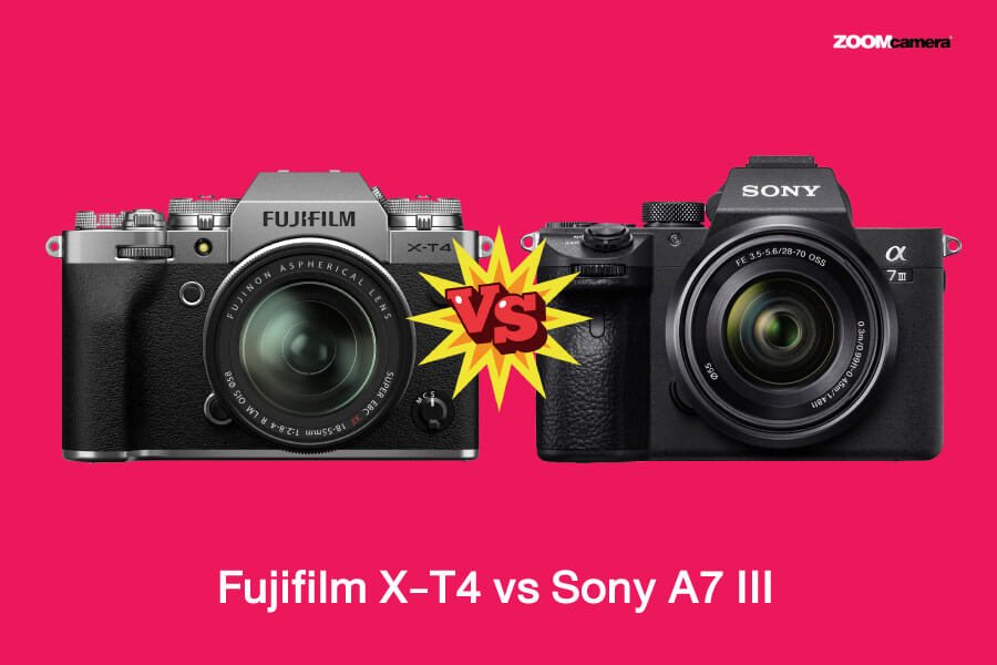 เปรียบเทียบ X-T4 vs a7iii