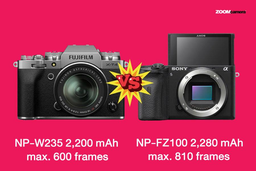 compare fujifilm x-t4 vs sony a6600