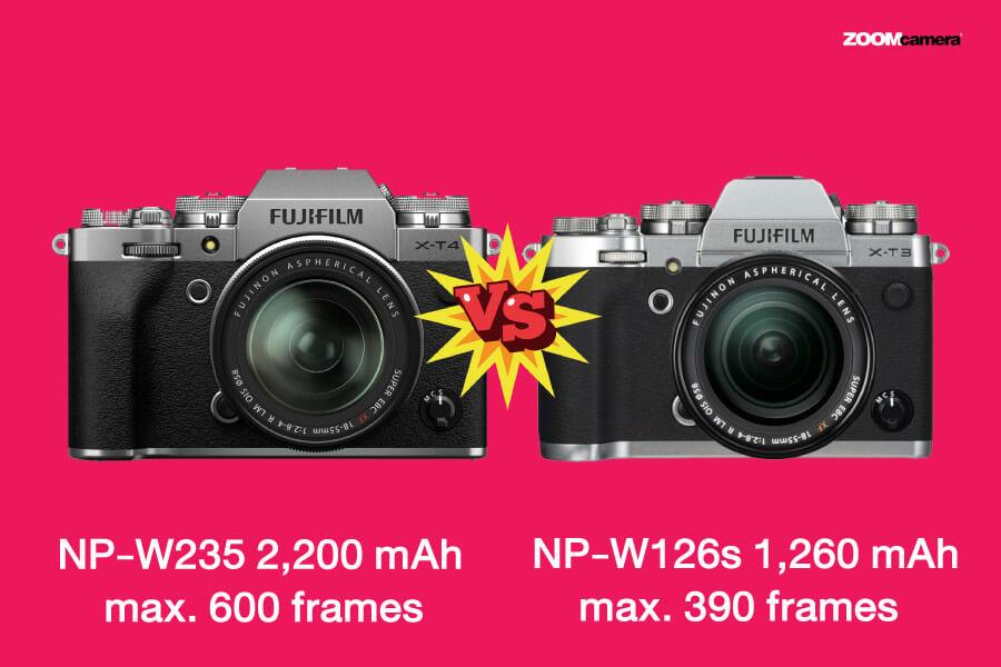 compare fujifilm x-t4 vs กล้องฟูจิ x-t3