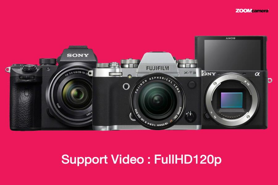 fujifilm xt4 vs xt3 vs a6600 a7iii video slowmotion
