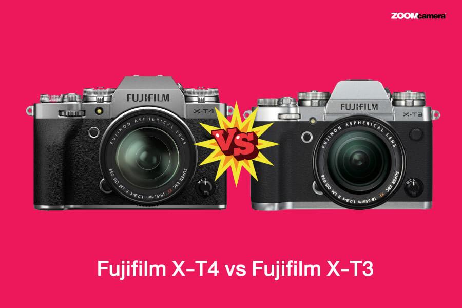 เปรียบเทียบ X-T4 vs x-t3