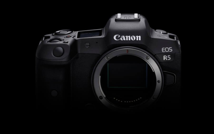 Canon EOS R5 fornt side