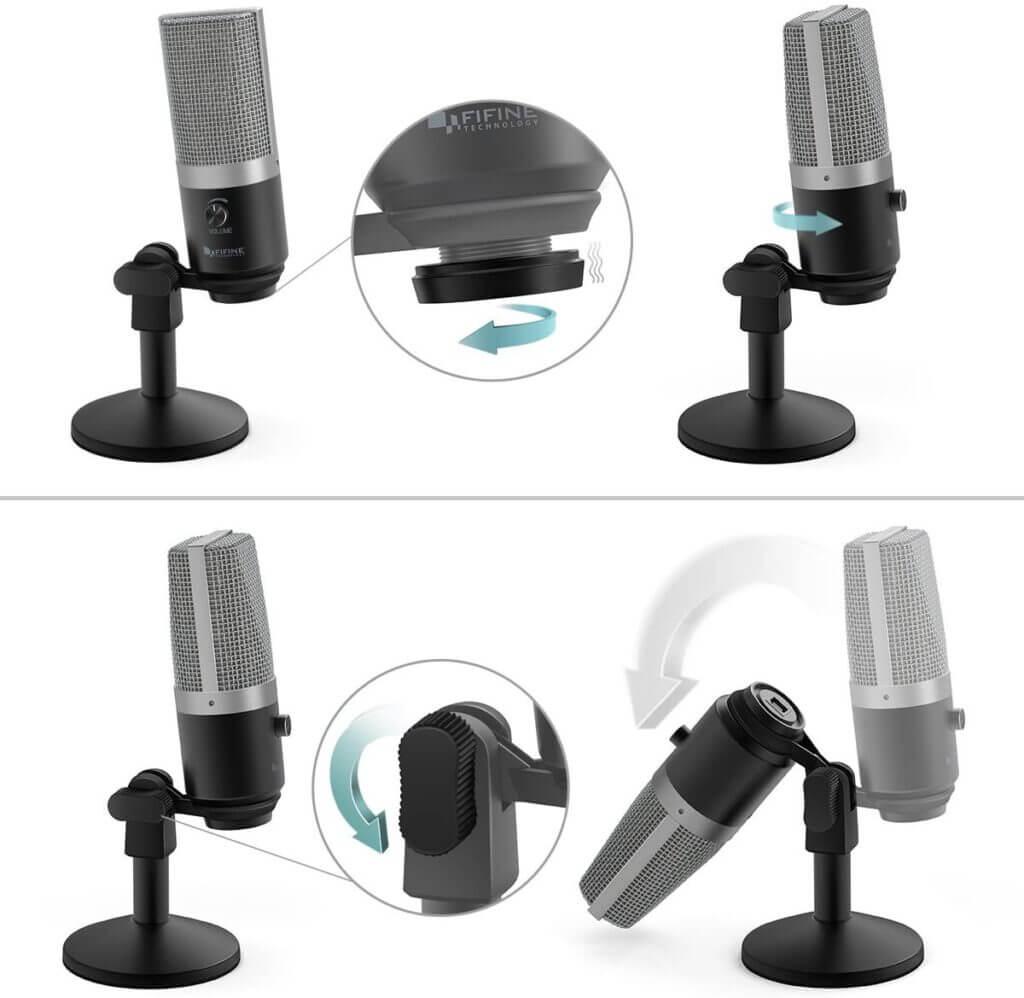 FIFINE K670 USB Unidirectional Condenser Microphone adjust