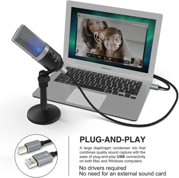 FIFINE K670 USB Unidirectional Condenser Microphone plug and play