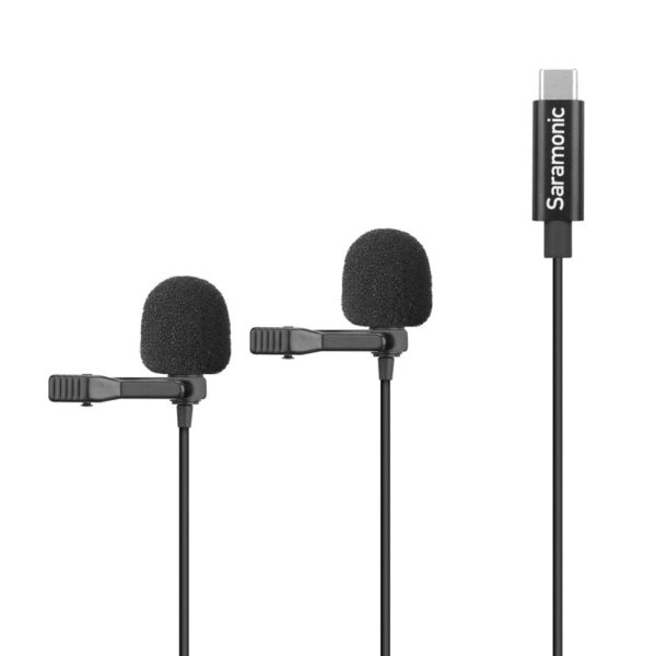 Microphone Saramonic LavMicro U3C 6 Meter Lavalier Mic for USB Type C x 2 MIC Capsuals 1