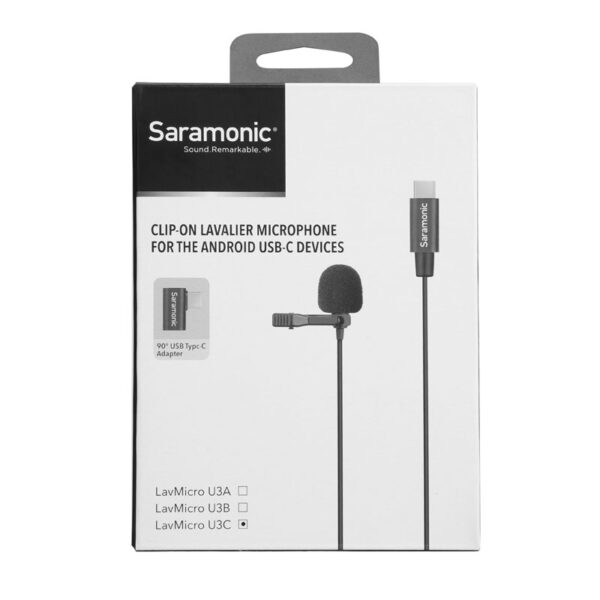 Microphone Saramonic LavMicro U3C 6 Meter Lavalier Mic for USB Type C x 2 MIC Capsuals 4