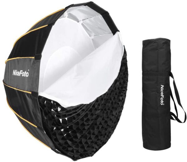 Nicefoto LED professional Umbrella Softbox Photography Studio SoftBox with Grid 3