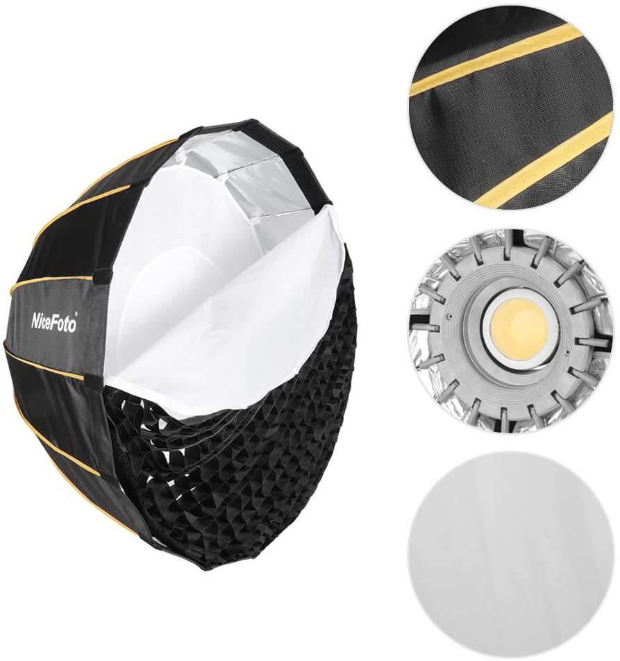 Nicefoto LED professional Umbrella Softbox Photography Studio SoftBox with Grid 8