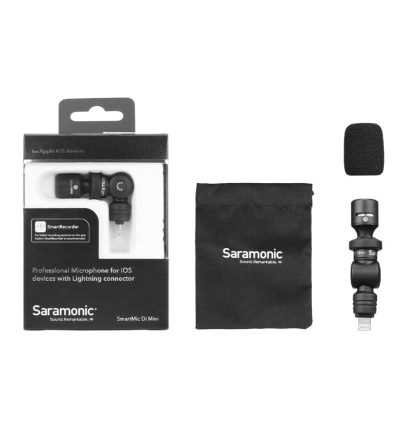 Saramonic Smartmic Di mini stereo with lighting connecter for apple iphone 4 scaled