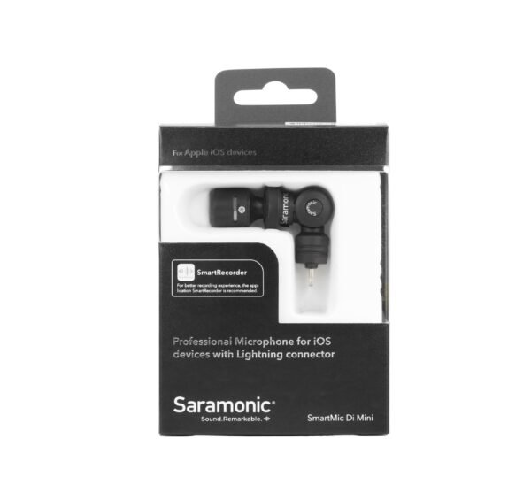 Saramonic Smartmic Di mini stereo with lighting connecter for apple iphone 8 scaled
