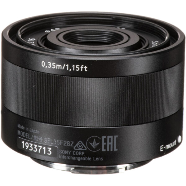 Sony Lens ZA SEL35F28Z FE 35mm F2.8 Carl Zeiss Sonnar T 4