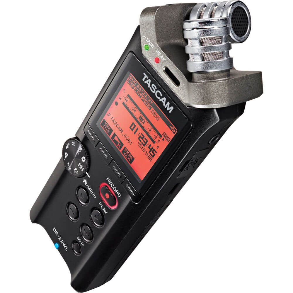 Tascam DR 22WL Portable Handheld Recorder with Wi Fi 1