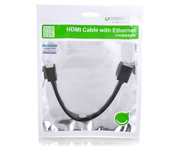 Ugreen 20137 Mini HDMI Male to HDMI Female Adapter Cable 22cm Black 5