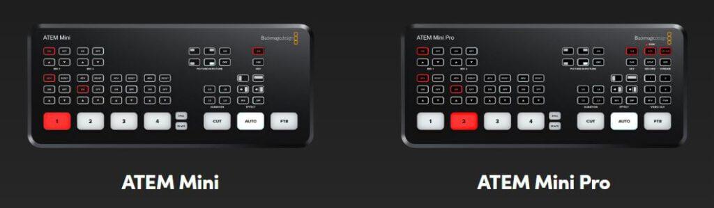 Blackmagic Atem Mini Pro เปรียบเทียบ Atem mini