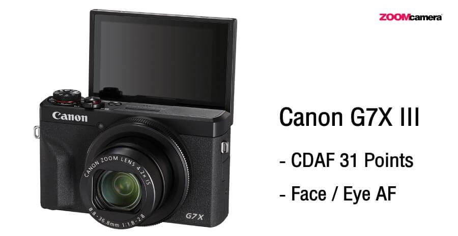 เปรียบเทียบ Sony ZV1 vs G7X III ระบบ Focus