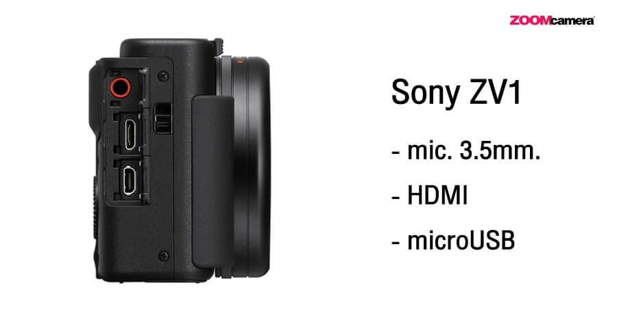 Sony ZV1 Port เชื่อมต่อ