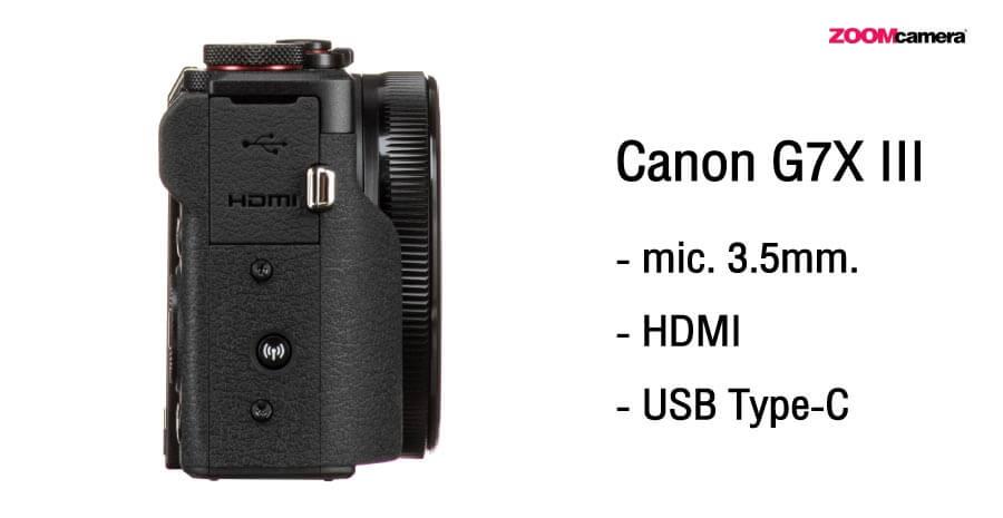Canon G7X III Port เชื่อมต่อ