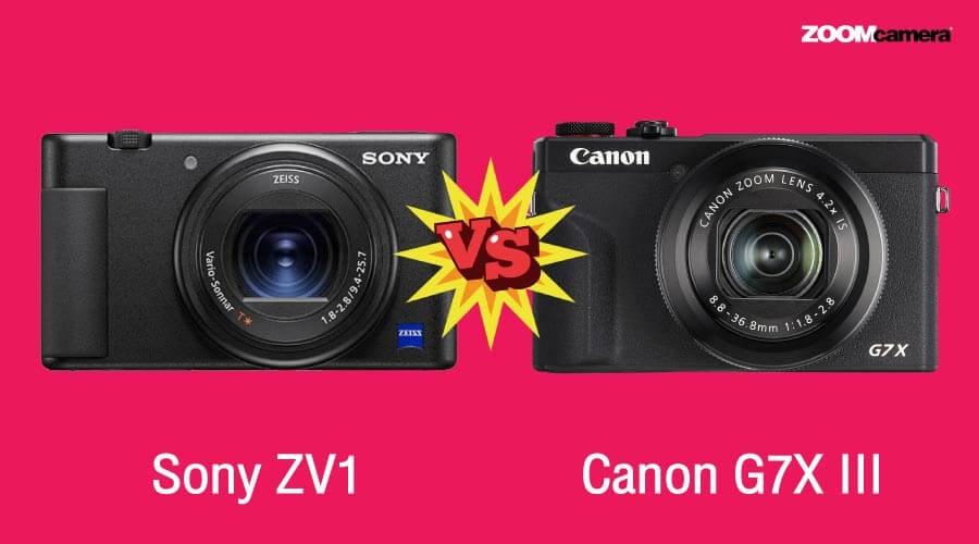เปรียบเทียบ Sony ZV1  vs Canon G7X III