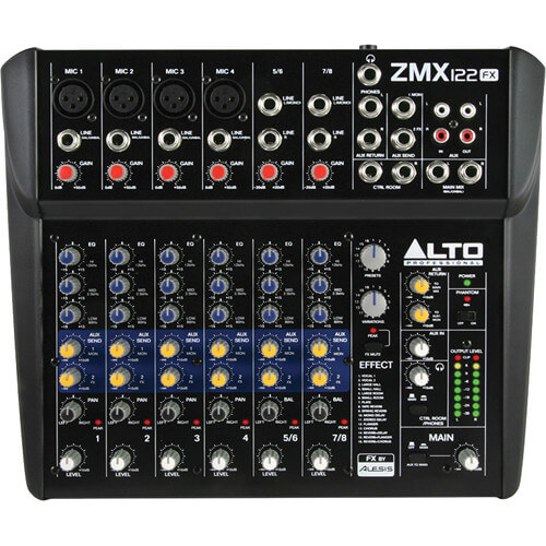 Alto Professional ZEPHYR ZMX122FX 8 Channel Mixer with Effects 2