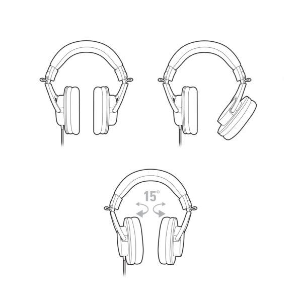 Audio Technica TH M20x Professional Monitor Headphones 5