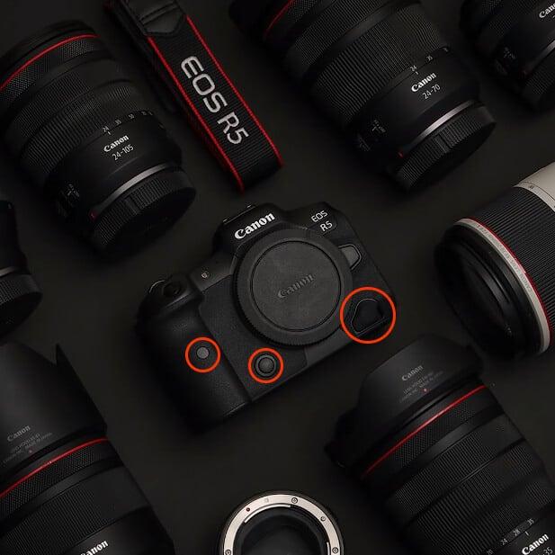 Canon EOS R5 buttons