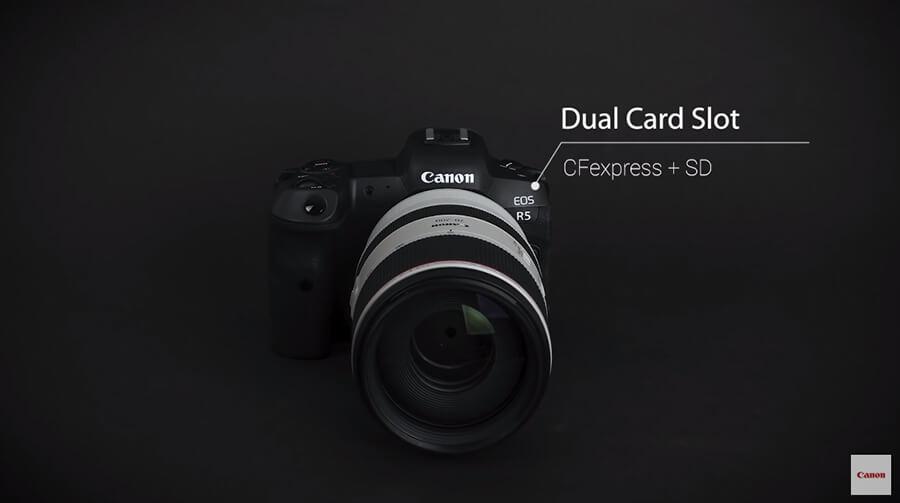 Canon EOS R5 Card Slot UHS-II