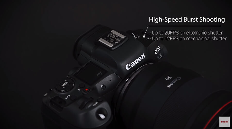 Canon EOS R5 Burst speed