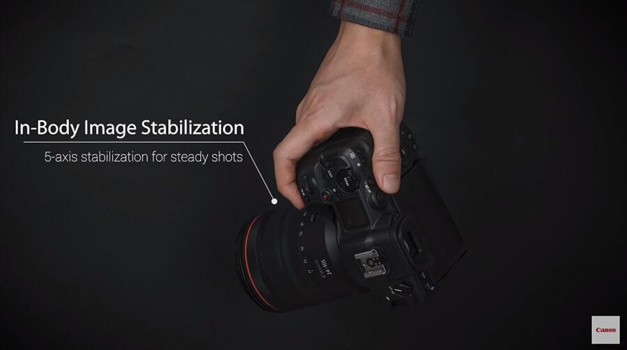 Canon EOS R5 image stabilization