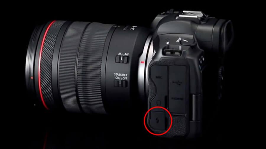 Canon EOS R5 side