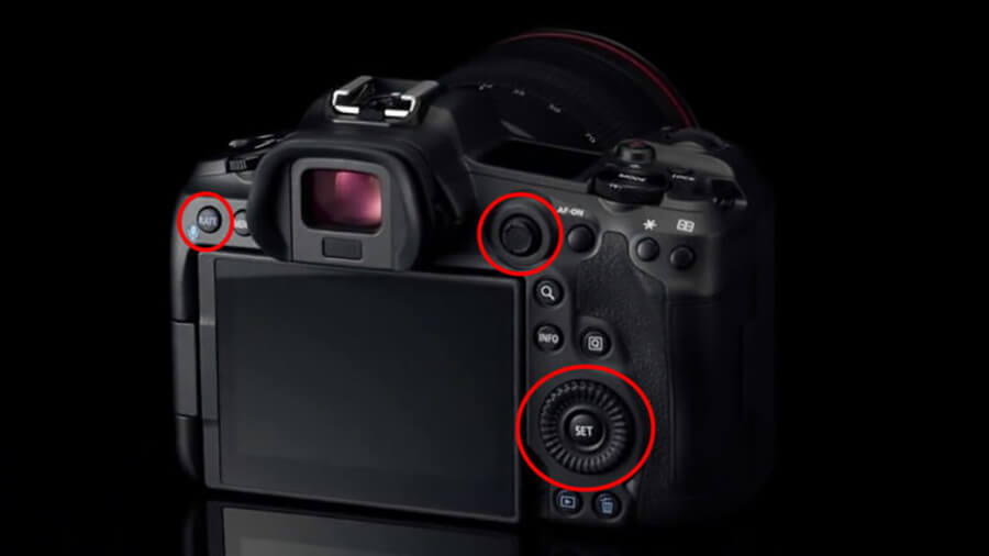 Canon EOS R5 back buttons