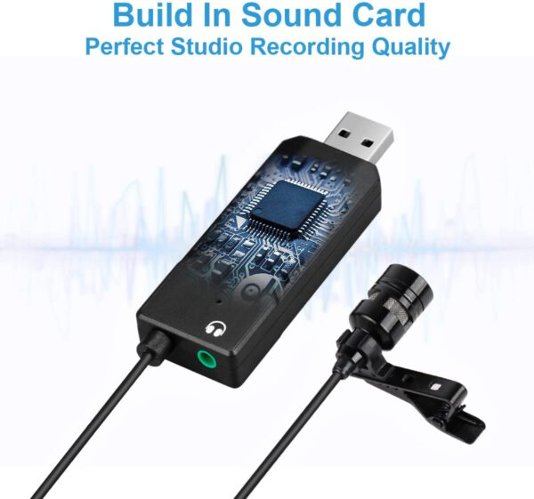 FIFINE USB LAPEL MIC WITH MONITORING HEADPHONE JACK FOR SKYPE CALLS CONFERENCING DICTATING K053 5