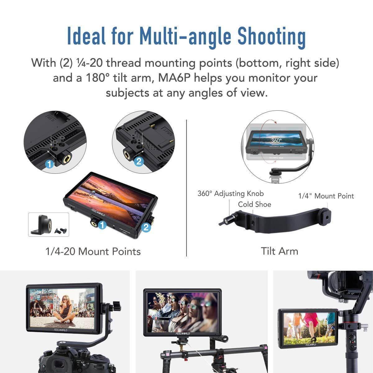 Feelworld Master MA6F 5.7 Full HD HDMI On Camera Monitor 12