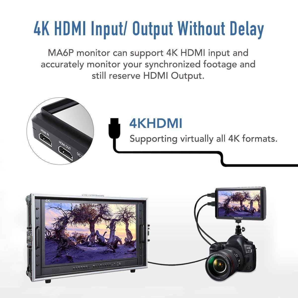 Feelworld Master MA6F 5.7 Full HD HDMI On Camera Monitor 13