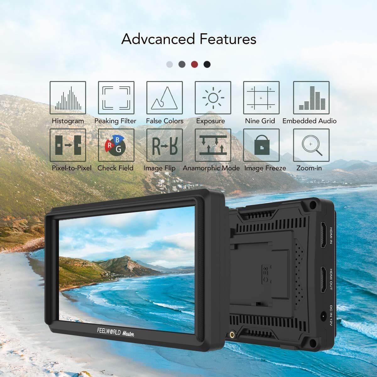 Feelworld Master MA6F 5.7 Full HD HDMI On Camera Monitor 16