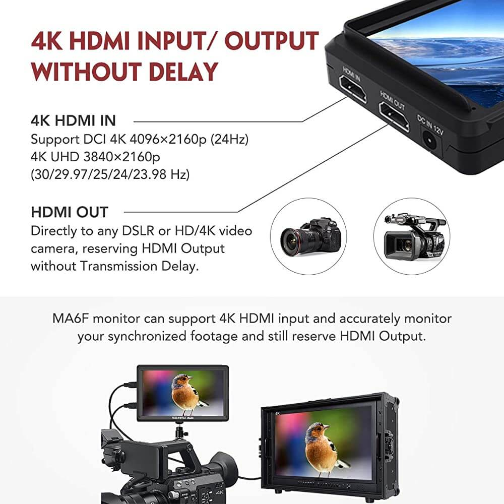 Feelworld Master MA6F 5.7 Full HD HDMI On Camera Monitor 6
