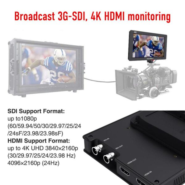 Feelworld Master MA7S 7 3G SDI 4K HDMI DSLR Monitor 10