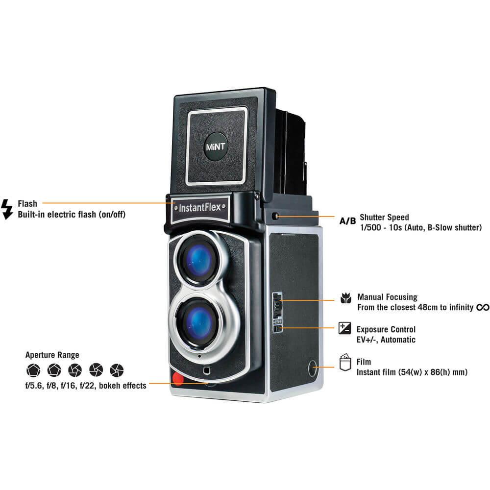 Mint Camera InstantFlex TL70 2.0 Instant Film Camera 12