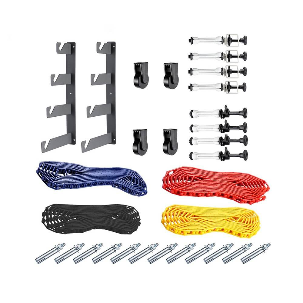 NiceFoto 4 Roller Manual Chain Heavy Duty Wall Mount Kit Background Backdrop 7