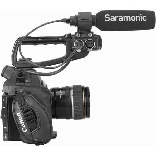 Saramonic SR-NV5X Short Shotgun Microphone with Hardwired XLR Cable